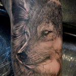 фото тату волчица №361 - крутой вариант рисунка, который успешно можно использовать для доработки и нанесения как тату волчица для девушки на плече