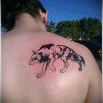 фото тату волчица №541 - интересный вариант рисунка, который успешно можно использовать для переработки и нанесения как тату волчица и волчата