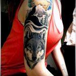 фото тату волчица №90 - интересный вариант рисунка, который успешно можно использовать для переработки и нанесения как тату волчица на предплечье