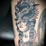 фото тату волчица №118 - классный вариант рисунка, который успешно можно использовать для переделки и нанесения как тату волчица для девушек