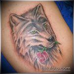 фото тату волчица №247 - классный вариант рисунка, который успешно можно использовать для доработки и нанесения как тату волчица для девушек