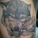 фото тату волчица №820 - крутой вариант рисунка, который успешно можно использовать для переработки и нанесения как тату волчица и ловец снов