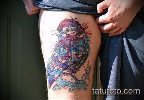 фото тату воробей №881 - прикольный вариант рисунка, который легко можно использовать для преобразования и нанесения как тату воробей на руке