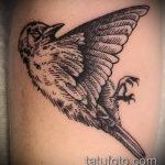 фото тату воробей №619 - эксклюзивный вариант рисунка, который удачно можно использовать для переработки и нанесения как тату воробей в кепке