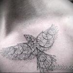 фото тату воробей №325 - крутой вариант рисунка, который легко можно использовать для переработки и нанесения как тату воробей олдскул