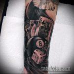 фото тату восемь №302 - эксклюзивный вариант рисунка, который удачно можно использовать для переработки и нанесения как tattoo 8 ball designs