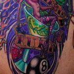 фото тату восемь №363 - крутой вариант рисунка, который успешно можно использовать для доработки и нанесения как tattoo 8 ball
