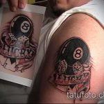 фото тату восемь №18 - крутой вариант рисунка, который легко можно использовать для переделки и нанесения как тату восемь на руке