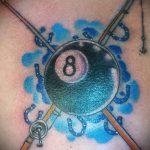 фото тату восемь №929 - достойный вариант рисунка, который удачно можно использовать для преобразования и нанесения как tattoo 8 ball designs