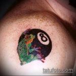 фото тату восемь №578 - прикольный вариант рисунка, который легко можно использовать для преобразования и нанесения как tattoo 8 ball