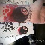 фото тату восемь №614 - интересный вариант рисунка, который хорошо можно использовать для переделки и нанесения как татуировка 8 шар