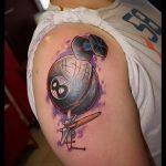 фото тату восемь №116 - эксклюзивный вариант рисунка, который хорошо можно использовать для доработки и нанесения как tattoo 8 ball