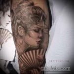 фото тату гейша №968 - достойный вариант рисунка, который легко можно использовать для доработки и нанесения как тату гейша на предплечий
