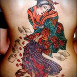 фото тату гейша №109 - эксклюзивный вариант рисунка, который хорошо можно использовать для доработки и нанесения как тату гейша для девушек