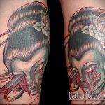фото тату гейша №721 - классный вариант рисунка, который легко можно использовать для доработки и нанесения как тату гейша убийца