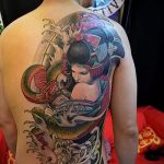 фото тату гейша №362 - достойный вариант рисунка, который хорошо можно использовать для преобразования и нанесения как тату гейша япония