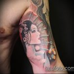 фото тату гейша №746 - достойный вариант рисунка, который хорошо можно использовать для преобразования и нанесения как тату гейша и маска ханья
