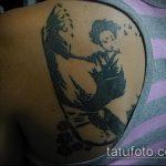 фото тату гейша №681 - классный вариант рисунка, который удачно можно использовать для доработки и нанесения как тату гейша на дереве
