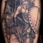 фото тату гладиатор №340 - уникальный вариант рисунка, который хорошо можно использовать для преобразования и нанесения как тату гладиатор максимус