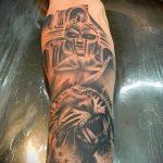 фото тату гладиатор №456 - уникальный вариант рисунка, который удачно можно использовать для преобразования и нанесения как тату гладиатор шлем