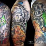 фото тату гладиатор №807 - эксклюзивный вариант рисунка, который хорошо можно использовать для доработки и нанесения как тату шлем гладиатора