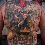 фото тату гладиатор №814 - достойный вариант рисунка, который хорошо можно использовать для переделки и нанесения как тату гладиатор на плече