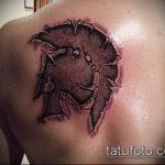 фото тату гладиатор №182 - крутой вариант рисунка, который удачно можно использовать для преобразования и нанесения как тату гладиатор спартак