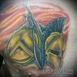 фото тату гладиатор №951 - крутой вариант рисунка, который удачно можно использовать для переработки и нанесения как тату гладиатор на предплечье