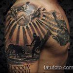 фото тату гладиатор №518 - крутой вариант рисунка, который удачно можно использовать для переработки и нанесения как тату гладиатор спартанец