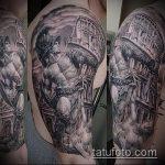 фото тату гладиатор №247 - уникальный вариант рисунка, который успешно можно использовать для переработки и нанесения как тату гладиатор на колеснице