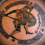 фото тату гладиатор №683 - достойный вариант рисунка, который хорошо можно использовать для переработки и нанесения как тату гладиатор на икре