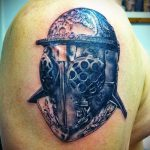 фото тату гладиатор №706 - интересный вариант рисунка, который легко можно использовать для переработки и нанесения как тату гладиатор шлем