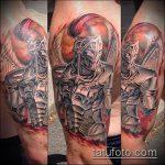 фото тату гладиатор №449 - достойный вариант рисунка, который удачно можно использовать для доработки и нанесения как тату гладиатор воин