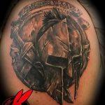 фото тату гладиатор №803 - эксклюзивный вариант рисунка, который легко можно использовать для преобразования и нанесения как тату гладиатор тюрьма