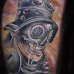 фото тату гладиатор №998 - классный вариант рисунка, который хорошо можно использовать для доработки и нанесения как тату гладиатор со львом