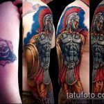 фото тату гладиатор №554 - прикольный вариант рисунка, который хорошо можно использовать для преобразования и нанесения как тату гладиатор из фильма