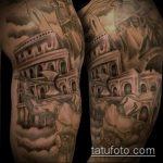 фото тату гладиатор №599 - прикольный вариант рисунка, который удачно можно использовать для преобразования и нанесения как тату гладиатор со львом