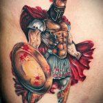 фото тату гладиатор №710 - крутой вариант рисунка, который удачно можно использовать для доработки и нанесения как тату гладиатор на руке