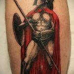 фото тату гладиатор №417 - эксклюзивный вариант рисунка, который легко можно использовать для преобразования и нанесения как тату гладиатора на руке