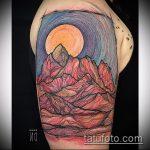 фото тату горы №436 - эксклюзивный вариант рисунка, который хорошо можно использовать для преобразования и нанесения как тату горы тени