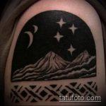 фото тату горы №96 - достойный вариант рисунка, который удачно можно использовать для переработки и нанесения как тату горы и луна