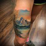 фото тату горы №347 - классный вариант рисунка, который хорошо можно использовать для доработки и нанесения как тату гора египет