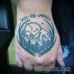 фото тату горы №351 - интересный вариант рисунка, который удачно можно использовать для преобразования и нанесения как тату горы лес