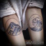 фото тату горы №416 - классный вариант рисунка, который легко можно использовать для переделки и нанесения как тату геометрические горы