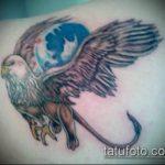 фото тату грифон №331 - эксклюзивный вариант рисунка, который легко можно использовать для преобразования и нанесения как тату грифон на спине
