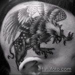 фото тату грифон №361 - эксклюзивный вариант рисунка, который удачно можно использовать для переделки и нанесения как тату грифон абхазия