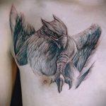 фото тату грифон №634 - уникальный вариант рисунка, который легко можно использовать для доработки и нанесения как тату грифон на запястье