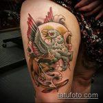 фото тату грифон №879 - уникальный вариант рисунка, который хорошо можно использовать для переделки и нанесения как тату грифон голова
