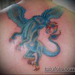 фото тату грифон №671 - уникальный вариант рисунка, который успешно можно использовать для доработки и нанесения как тату грифон абхазия