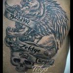 фото тату грифон №469 - прикольный вариант рисунка, который хорошо можно использовать для преобразования и нанесения как тату грифон для девушек